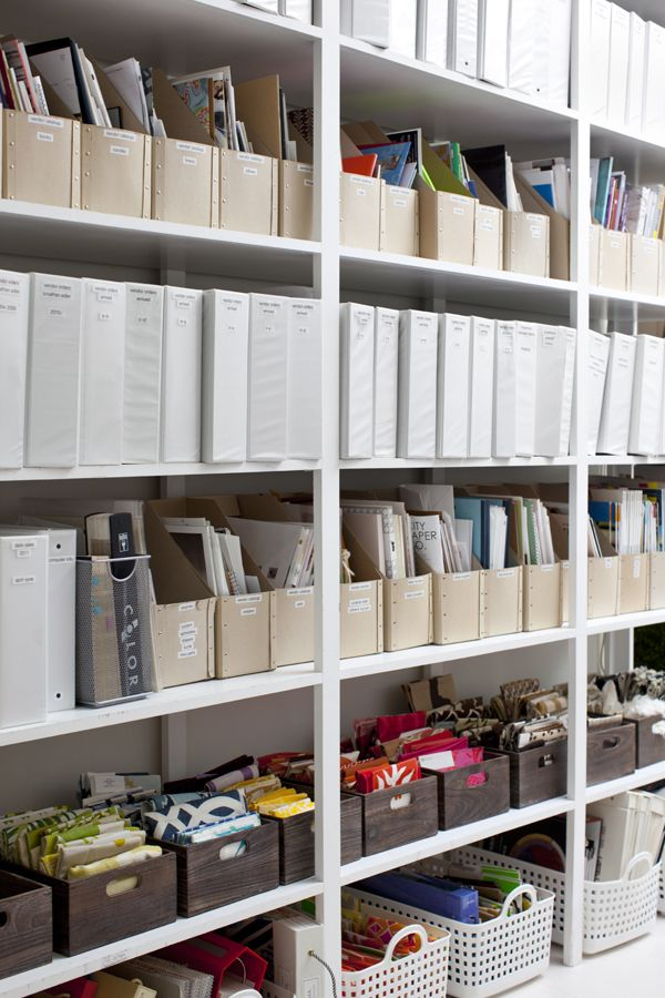 The organized office of an interior designer... Lee of Pieces Great ideas for organizing