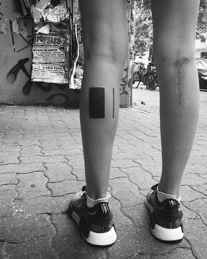 Минималистские татуировки от Станислава Вильчинского (27 фото)