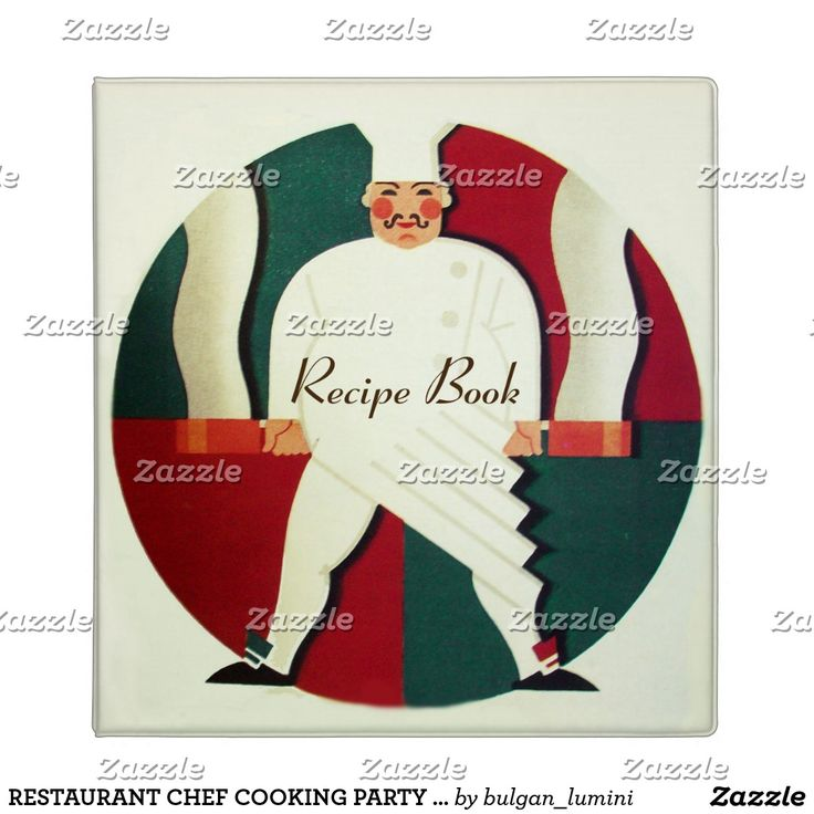 RESTAURANT CHEF COOKING PARTY RECIPE BOOK 3 RING BINDER  #office #fineart #food #cook #kitchen #culinary #caterer