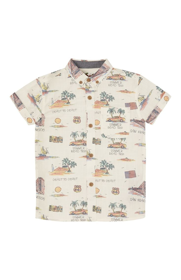 Shirt met korte mouw en zomerse print