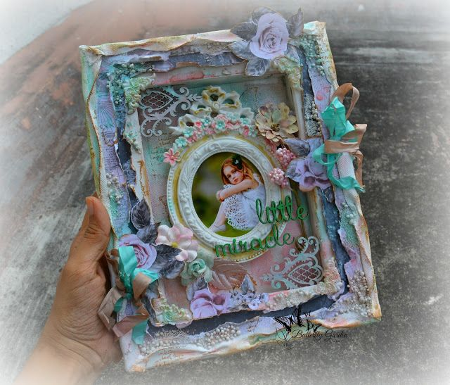 Hello, everyone! I'm excited to share my new reverse canvas shadow box frame. It is filled with lots of lovely Prima Marketing products,M...