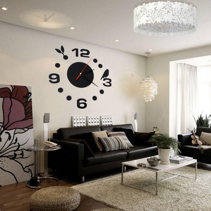 Die besten 25+ Schwarzes ledersofa Ideen auf Pinterest schwarze - wohnideen wohnzimmer braun lila