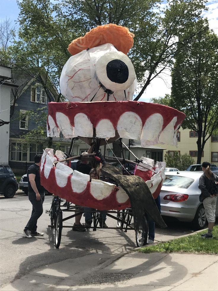 Trump protest float for Cinco de Mayo parade.