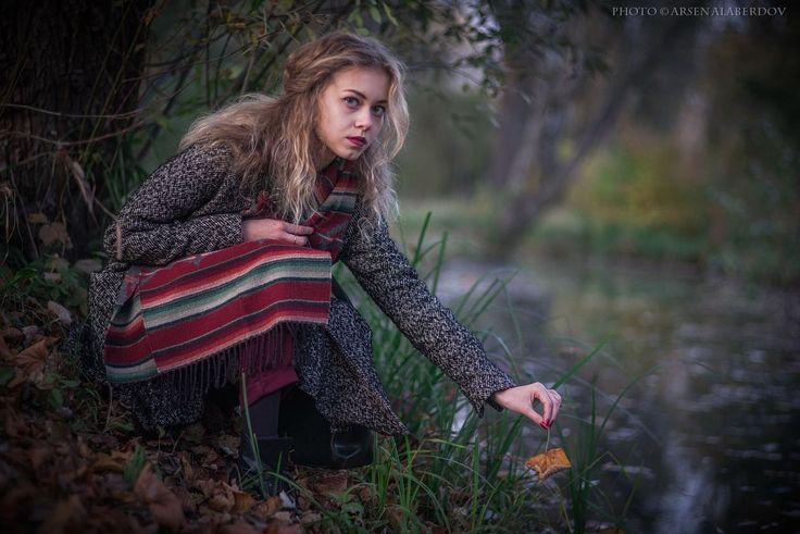 GIRL WITH A LEAF by Al Arsen
