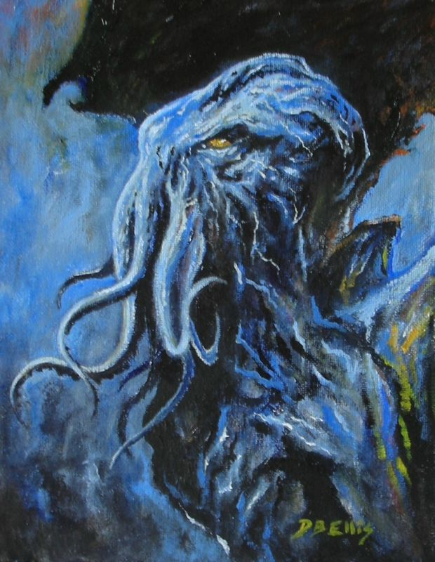 CTHULHU by David Ellis  8x10 inches.  Oil on canvas.