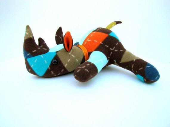 Handmade Stuffed Animal Rhino | Baby Schalls | Pinterest ...