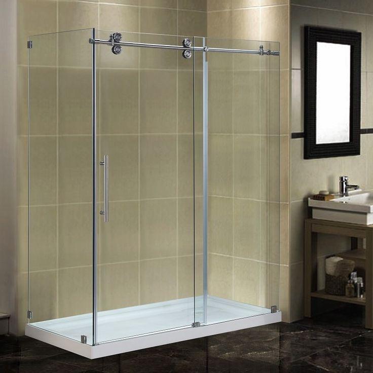 sterling finesse frameless sliding shower door reviews completely enclosure low doors lowes glass