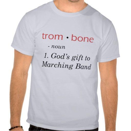 Trombone Definition Shirt #marchingbandstuff #hornandcastle