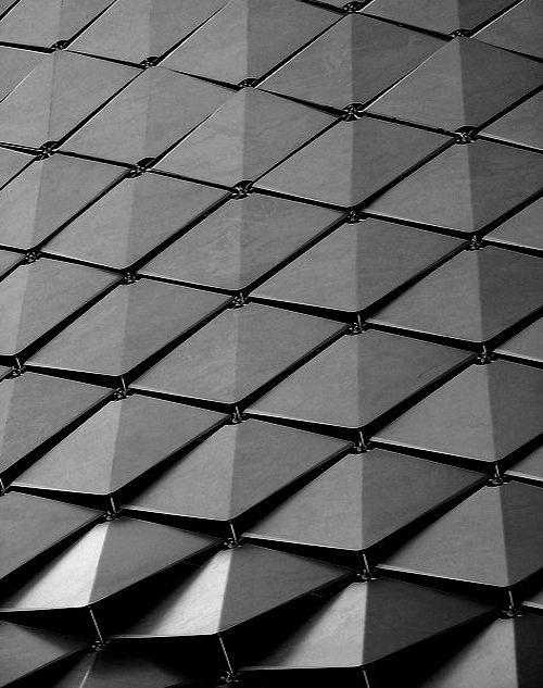 Triangles Quills Architecture Facade Cladding Panels #permutation