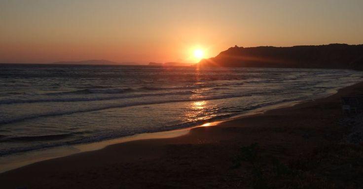 Sunset at Arillas beach, Corfu - near Villa Mimosa