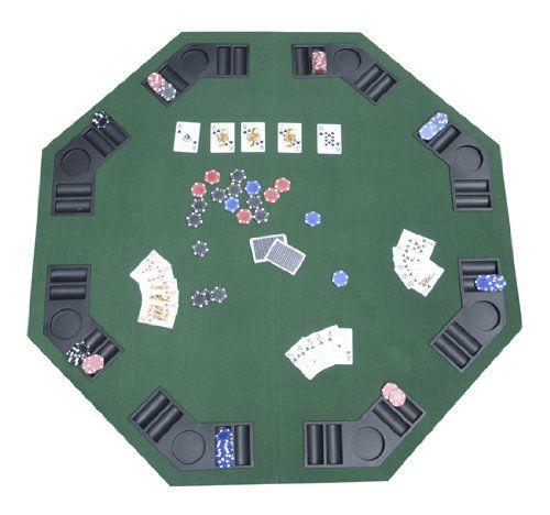 TABLE PLATEAU DE POKER CASINO OCTOGONALE PLIABLE POUR 8 JOUEURS 120CM NEUF 01: -Diamètre de 120cm; -Matériaux: plateau en MDF+ espace jeton…