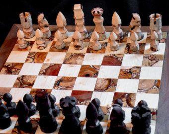 Large Medieval Chess Set. от ClassyCastings на Etsy