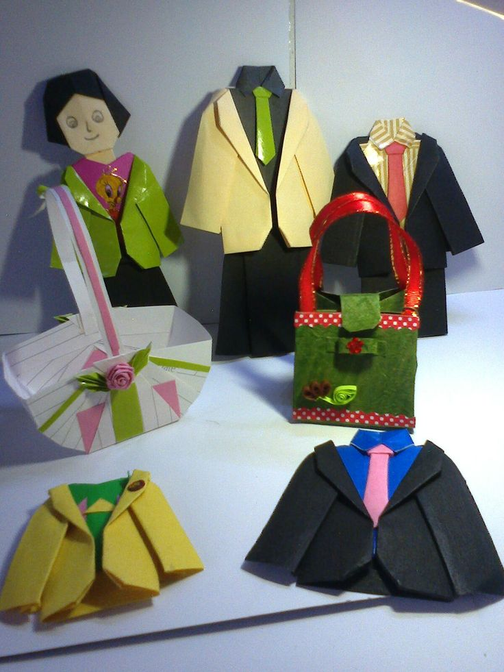 This all suits are made with color papers