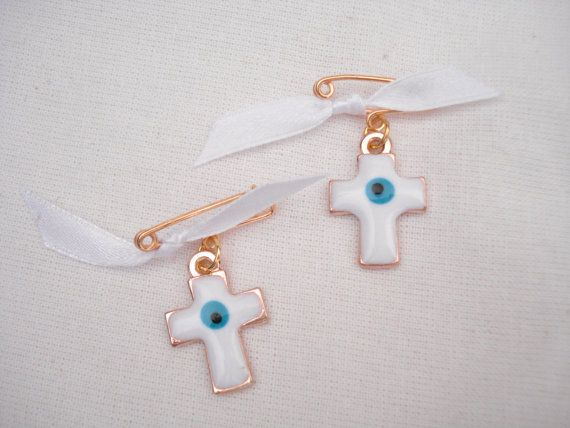 5pcs cross witness pins Martyrika Baptism favors Baby by Poppyg