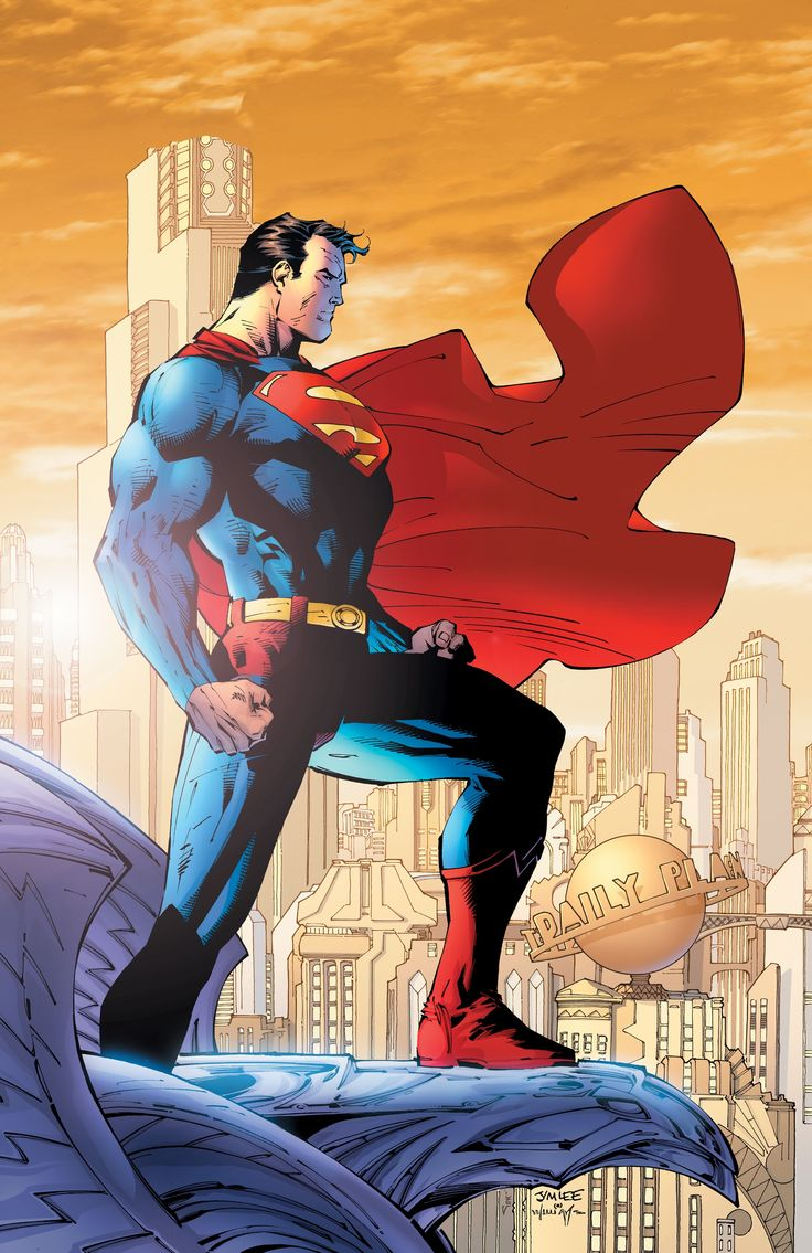 Superman - by Jim Lee Arguably THE most iconic Superman picture ever. Big. Bold. Beautiful.