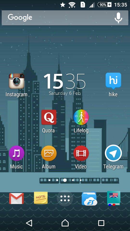 Xperia™ M2 Lollipop 5.1.1 Homescreen