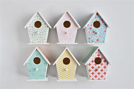 Pretty Wooden Birdhouses