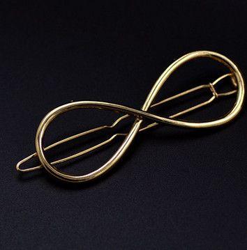 Vintage Oro/Plata Color Metal Triángulo Horquilla Niñas Pinzas Para el Cabello Accesorios Pelo de La Manera de Las Mujeres