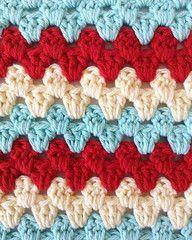 Maggie's Crochet · Stitch Repeat Granny Rows - Free Crochet Pattern