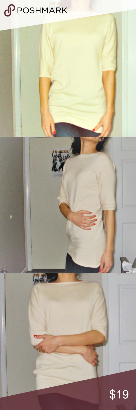 Calvin Klein beige tan tunic sweater top size S Tan sweater Calvin Klein tunic top size small Calvin Klein Tops Tees - Short Sleeve