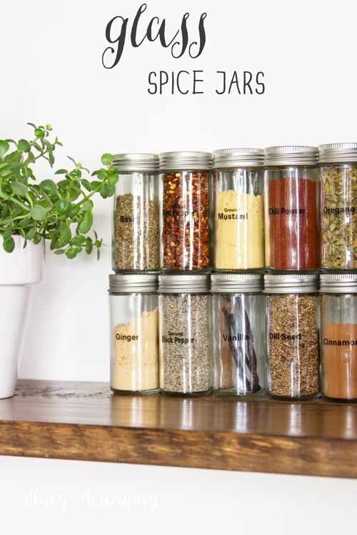 Fun Finds {Spice Jars}   Not JUST A Housewife