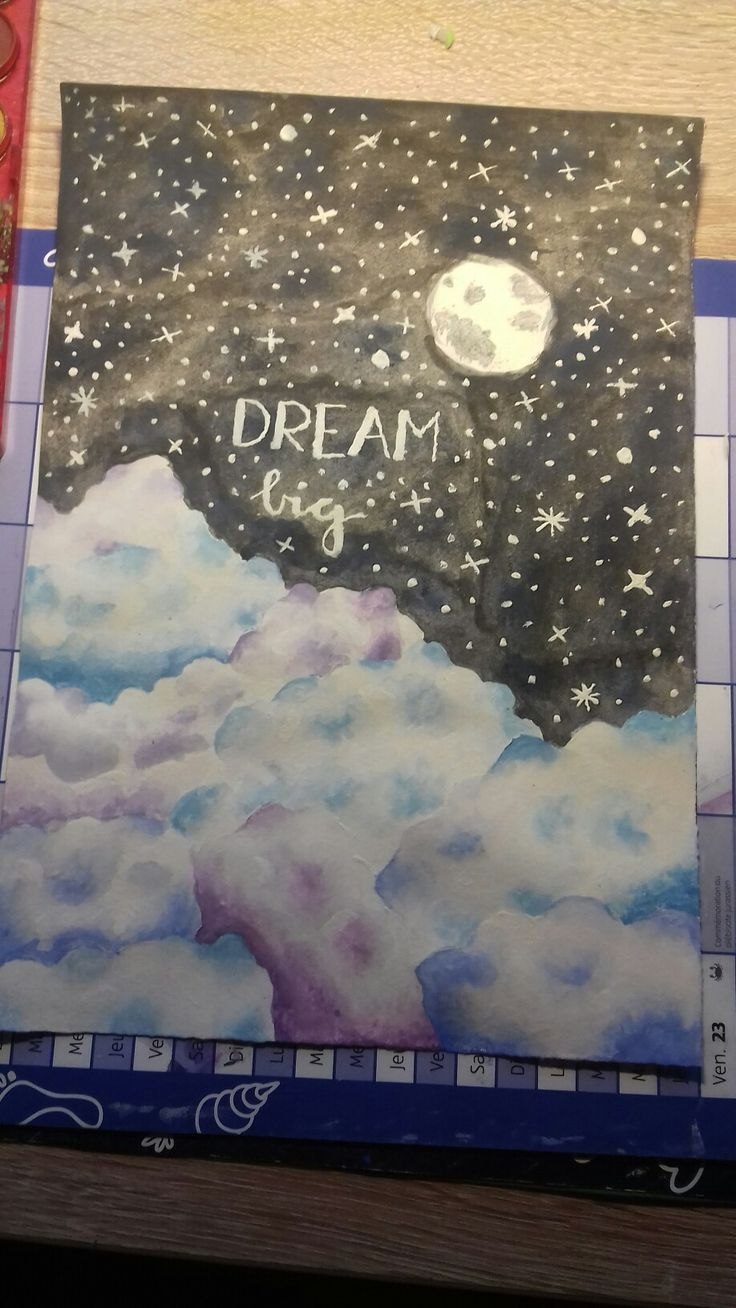 Dream big and never give up painting☁