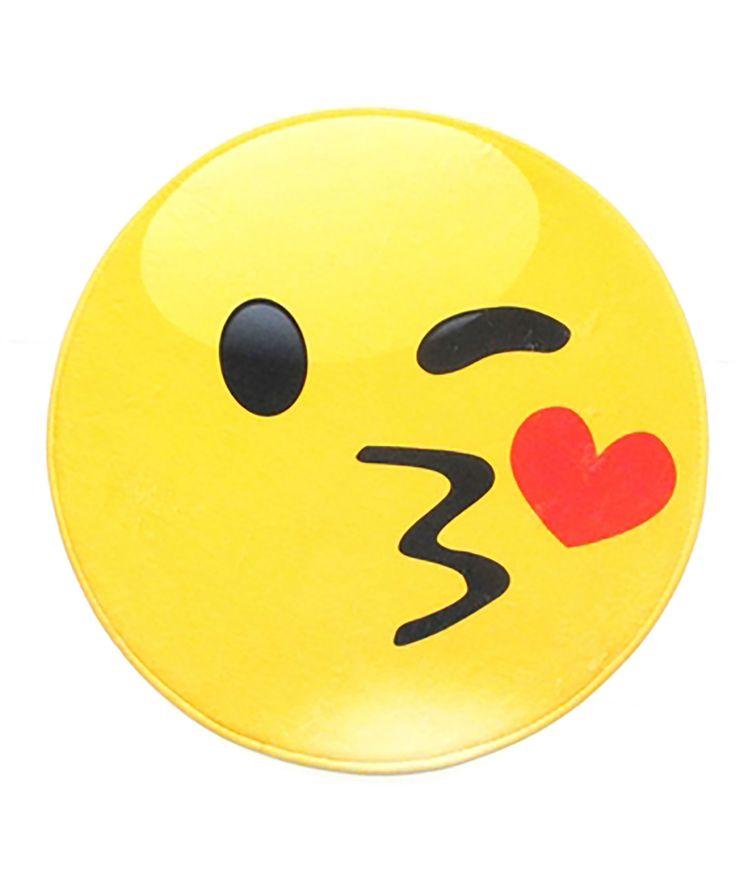 Confetti and Friends Kissy Emoji Rug