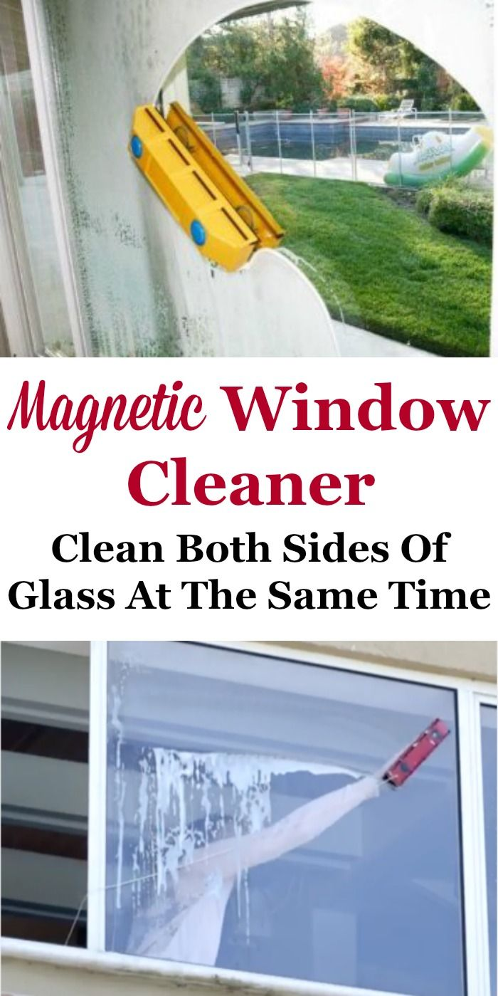 Cleaning windows can be tough, especially those outside windows that are hard to reach, even with a ladder. A magnetic window cleaner is designed to fix that problem.
