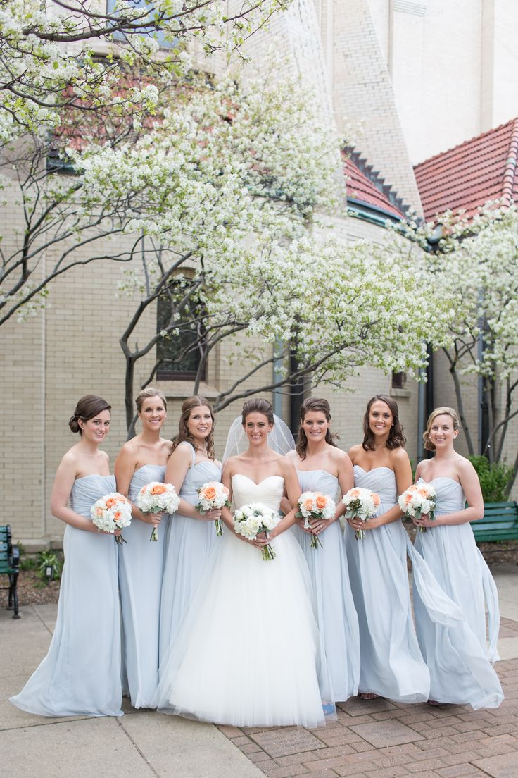 Pale Blue Bridesmaid Dresses | photography by http://emiliajanephotography.com/