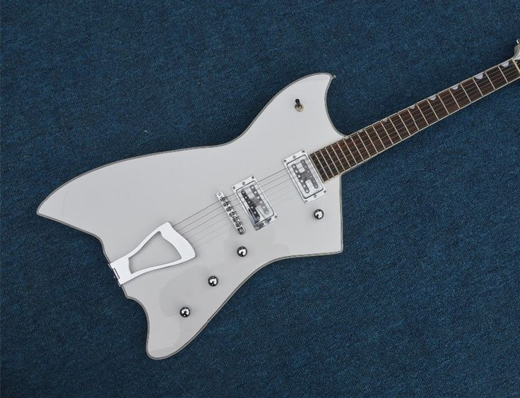 244.40$  Watch here  - Human  Top Selling White Gre.6199 Billy-Bo Jupiter Thunderbird Electric Guitar China OEM Guitarra Left Handed Custom