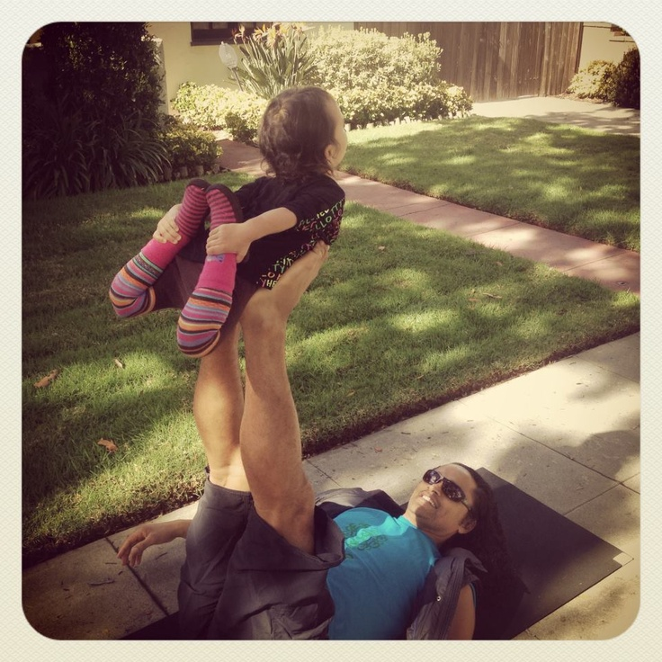2 year old Yoga prodigy! A father and daughter moment. #family #ecofriendly #yoga