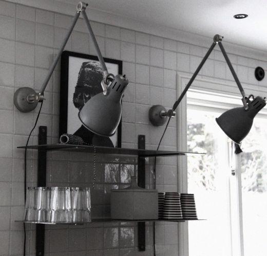 DIY: Aröd skrivbordslampa till väggfast lampa | @my casa | inspiration från IKEA