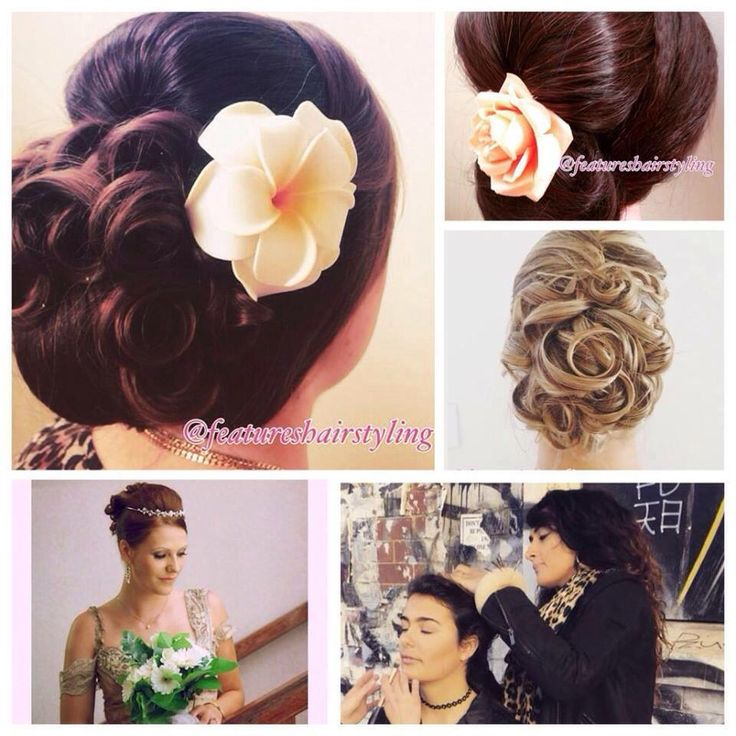 Bridal hair by @featureshairstyling