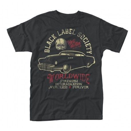 Black Label Society: Hell Riding Hot Rod (tricou)