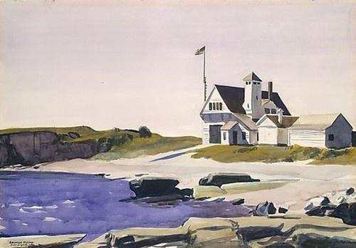 Very beautiful and sad... Edward Hopper, Guarda Costeira, Maine. 1227. MET. NY.