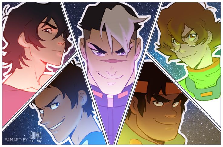 Keith, Lance, Shiro, Hunk and Pidge the Paladins of Voltron from Voltron Legendary Defender
