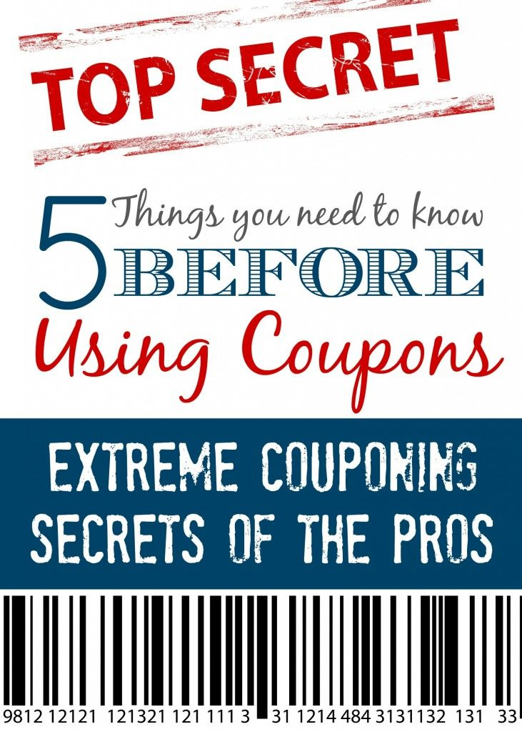 Here are some of the things people don't tell you before you start using coupons! These Extreme Couponing secrets are great things to know BEFORE you start couponing!
