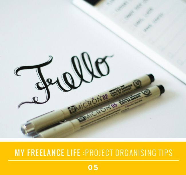 My Freelance Life 5: Project Organising Tips