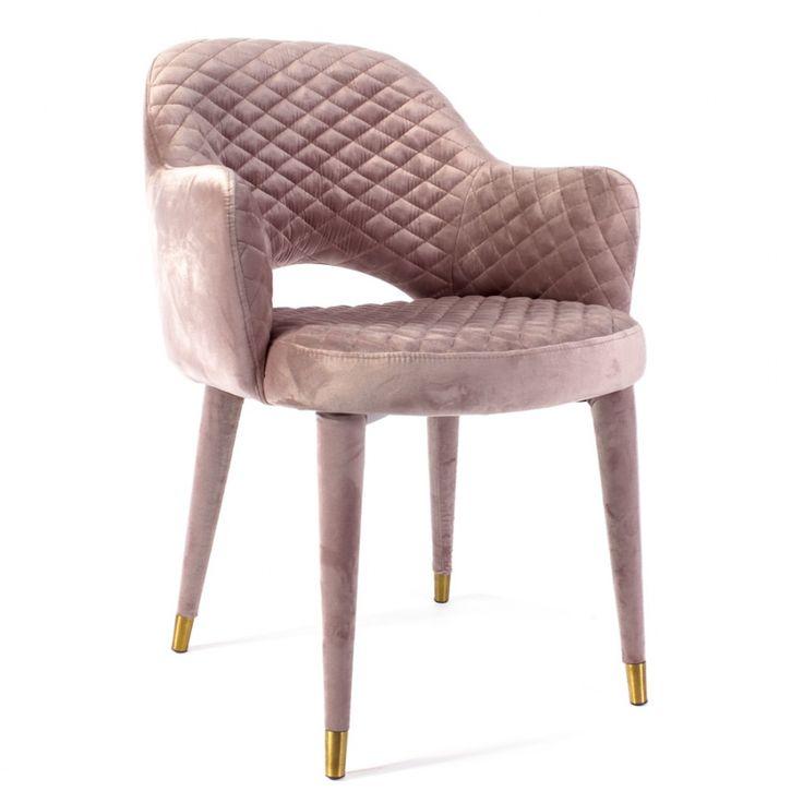Кресло MARTIN серо-розовый бархат/латунь от бренда Design House — купить в интернет-магазине