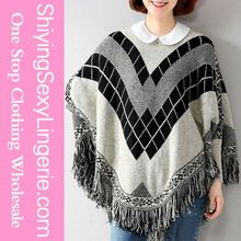 Light Gray Women Pullover Batwing Patterned Cashmere Poncho Sweater  Best Buy follow this link http://shopingayo.space