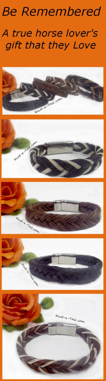 Magnetic horsehair bracelet Knot-a-tail.com