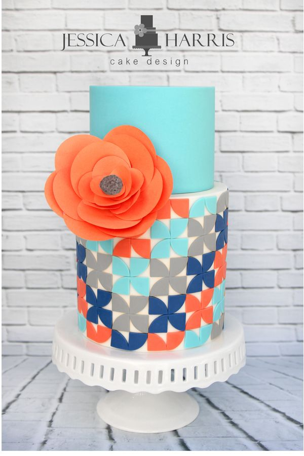 Quarter Round Pinwheel Cake Template - 2 Designs - Jessica Harris Cake Design