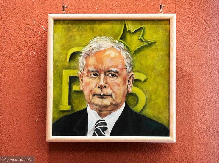 Zdjęcie numer 17 w galerii - Jarosław Kaczyński na 35 portretach. Kim są autorzy? [ZDJĘCIA]