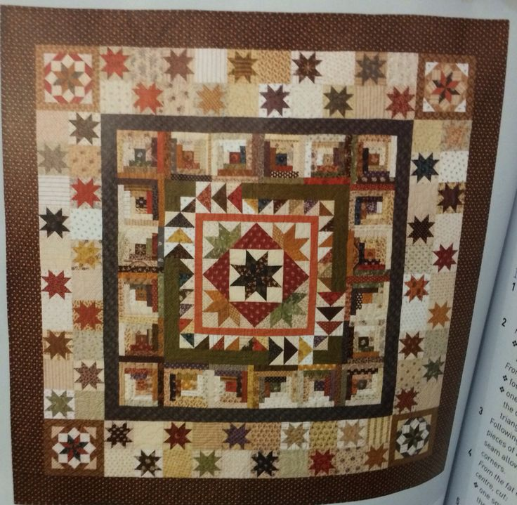 Max & Louise Pattern Co Betty's Medallion quilt from quilters Companion magazine issue no 65