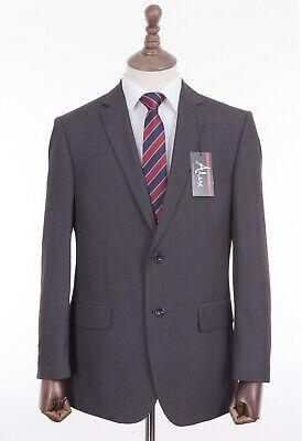 Men/'s Grey Savile Row Slim Fit Wool 2 Piece Suit