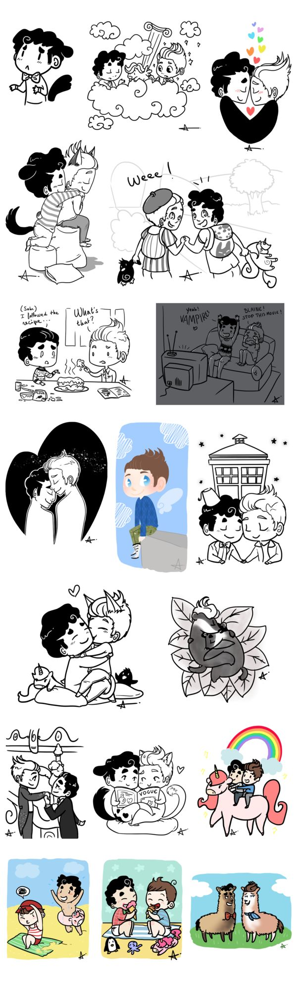 Klaine - Spam Doodles 5 by Sunshunes.deviantart.com on @deviantART