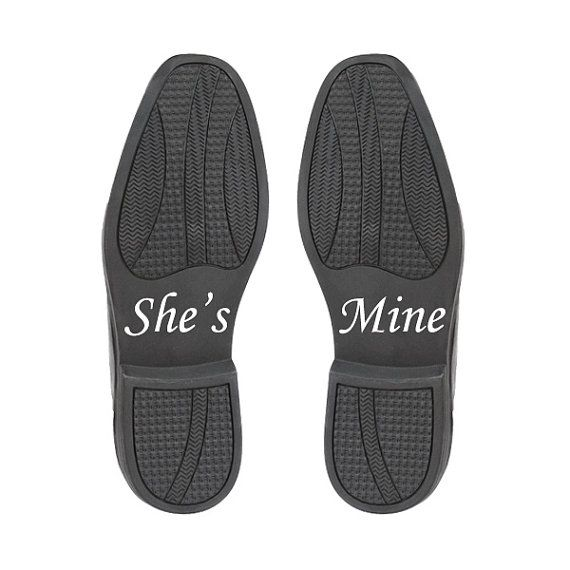 She's Mine Shoe Stickers Wedding Accessory by ThePetitePackage