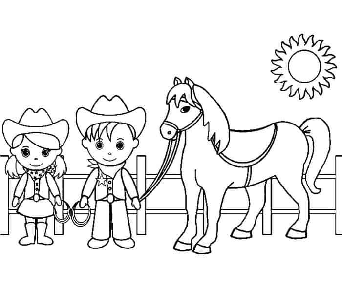 Cowboy And Cowgirl Coloring Pages In 2020 Superman Coloring Pages Horse Coloring Pages Coloring Pages