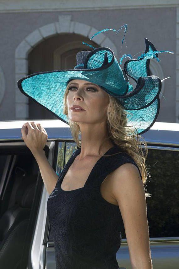 3bb00398027 2018 collection.Kentucky Derby hat. Derby hat. Navy hat.