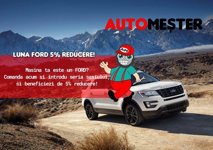 In luna August iti oferim reduceri la orice comanda pentru Ford! 🚖 Cumpara acum in 12 rate fara dobanda! 📢